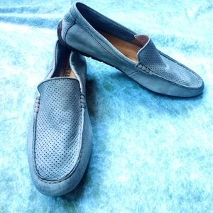 Born Men's Grey Leather Driving Loafers 11.5M